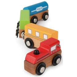德國Hape愛傑卡-快樂積木組-磁性火車(彩色火車)【天然實木、植物性水染漆、德國環保玩具】【紫貝殼】