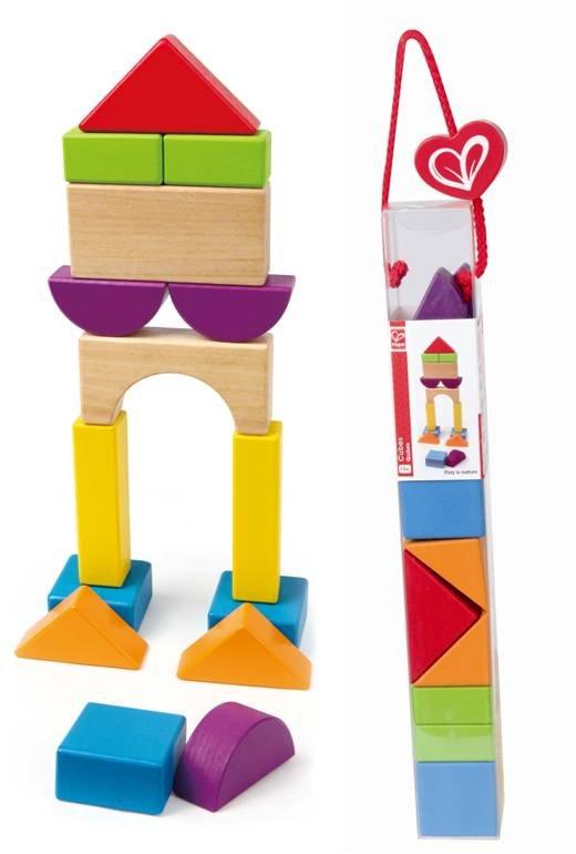 ~淘氣寶寶~德國Hape愛傑卡 拼圖系列~快樂積木組~城市.數字學習.1歲以上