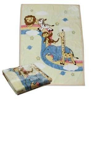 【淘氣寶寶】義大利 Chicco彩虹動物【雙層】雲毯 (米色)