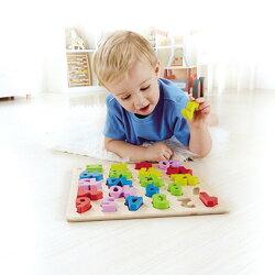 德國Hape愛傑卡 感統系列-數字立體木拼圖.益智操作.3歲以上【紫貝殼】