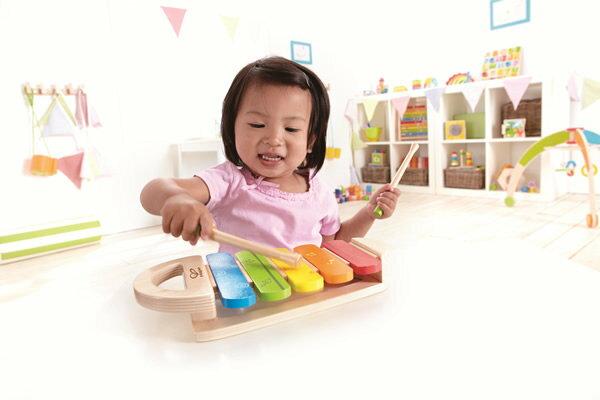 【淘氣寶寶】【德國Hape愛傑卡】音樂木琴