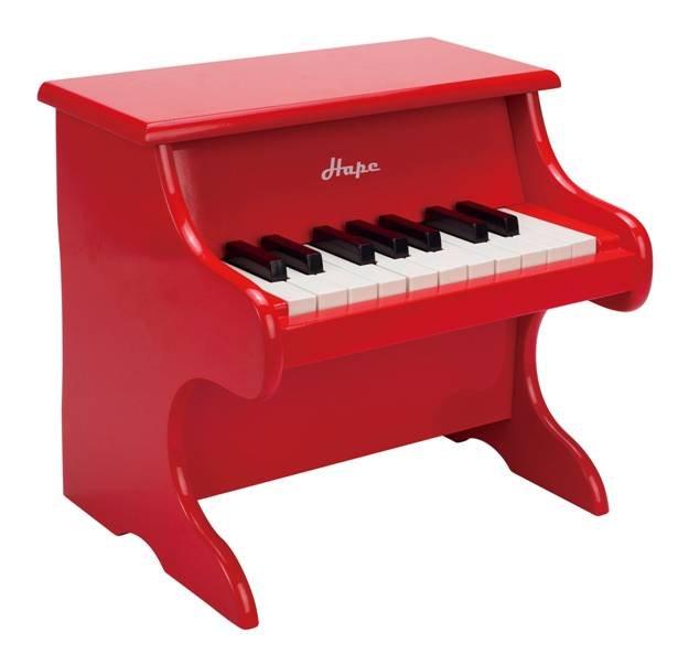 【淘氣寶寶】德國Hape愛傑卡 音樂系列-音樂小鋼琴-紅.兒童樂器.3歲.新品