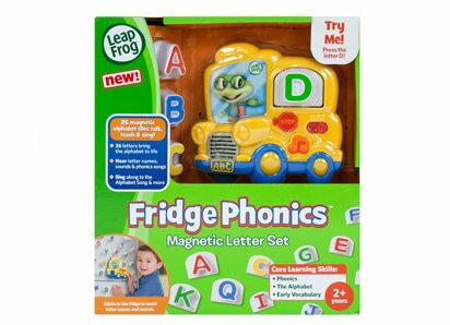 ~淘氣寶寶~美國 LeapFrog 跳跳蛙~字母發音磁鐵組~全英語益智教育玩具~~ 貨~
