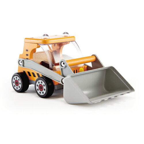 【淘氣寶寶】德國Hape愛傑卡-工程挖土機【天然實木、植物性水染漆、德國環保玩具】