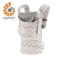 美國Ergo Baby ergobaby Carrier爾哥寶寶揹帶/揹巾(原創*粉紋) 【贈美國製醫療香草(紫色)奶嘴3顆】【紫貝殼】