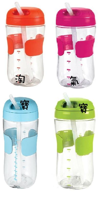 【淘氣寶寶】【美國oxo】Straw Cup 吸管喝水訓練杯/吸管喝水杯/學習杯/吸管杯 330ML / 11oz (藍)【保證原廠公司貨】