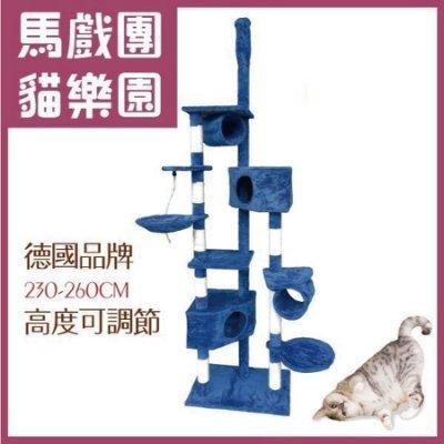 凱莉小舖【CT026】德國品牌貓跳台簡單好玩款(頂天立地型)豪華貓爬架 XXL號 貓跳台 貓窩
