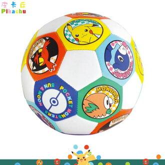 精靈寶可夢 神奇寶貝 皮卡丘 嬰幼兒 兒童玩具 軟質小皮球 足球小皮 球 球布製品 日本進口正版 161642