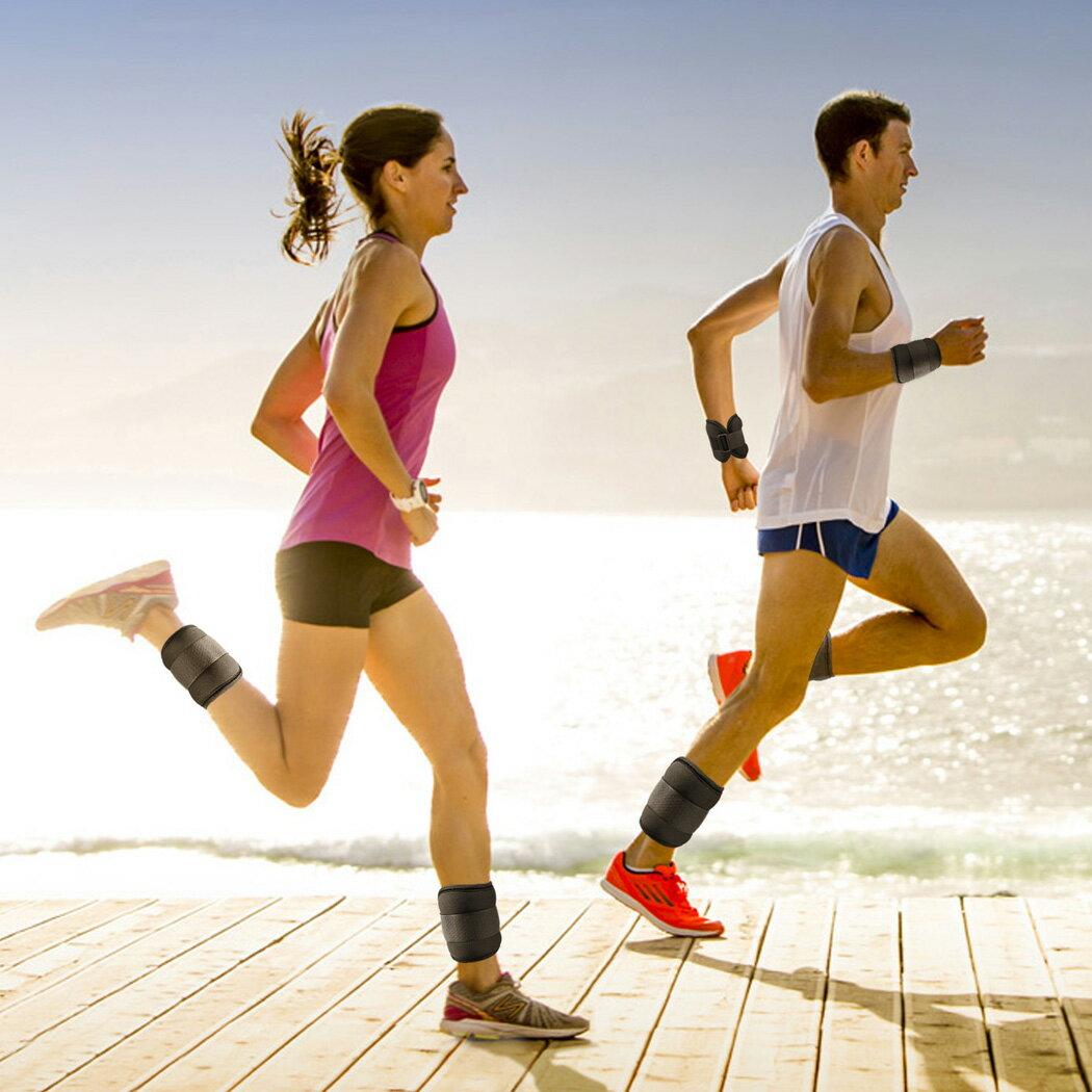 Workout Comfort Fit Ankle Wrist Cuff Wrap Walking Weight Sandbags Set 2