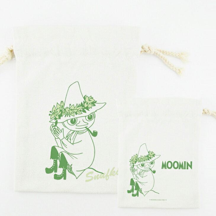 Moomin嚕嚕米授權 - 束口袋:【 Snufkin 】