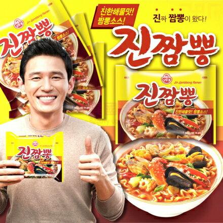 【不倒翁OTTOGI】韓國金螃蟹海鮮拉麵 單包/ 4包入 韓國原裝進口