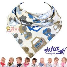 +蟲寶寶+【英國skibz】(現+預)多款花色 寶寶更有型!!! 時尚經典領巾/口水巾-小汽車