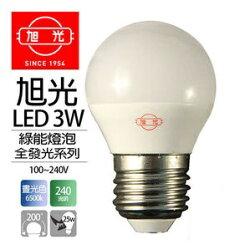旭光★LED 3.5W  球泡 白光 黃光 全電壓★永光照明TF-3.5WLED-E27%
