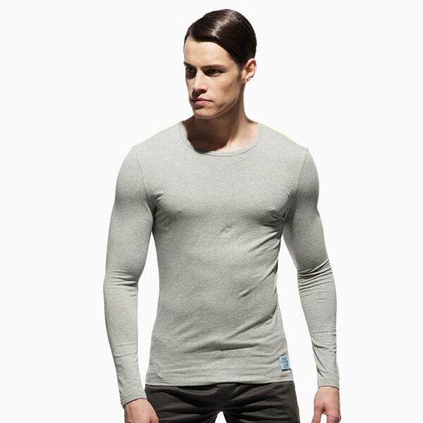 IF時尚購物:P.S螢光肩條運動型男合身圓領長袖上衣(淺灰色),99MT1784LT,PrivateStructure