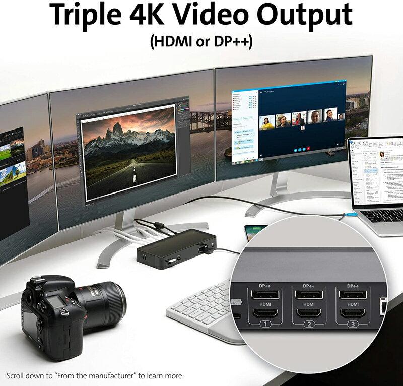 [2美國直購] 擴展塢 Kensington SD4900P Triple 4k Display Docking Station for Windows, MacBooks and Surface