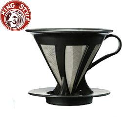 金時代書香咖啡 HARIO V60免濾紙黑色濾杯 / 1~4杯 / CFOD-02B