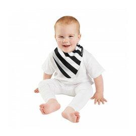 【紐西蘭Mum 2 Mum】雙面時尚造型口水巾圍兜-斑馬/黑