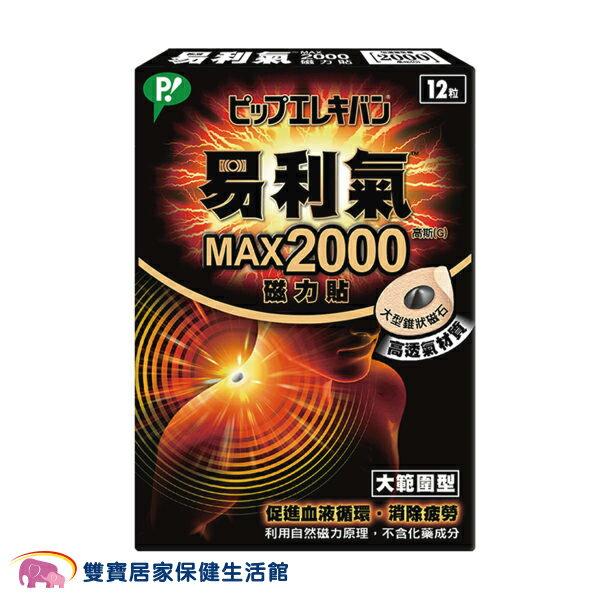 易利氣 磁力貼-大範圍型(MAX 2000高斯) 12粒