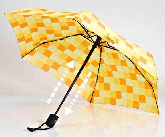 【鄉野情戶外用品店】 EuroSCHIRM |德國| DAINTY AUTOMATIC 輕巧迷你晴雨自動傘/玻璃纖維輕便雨傘-方塊黃/1A28