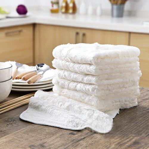 PS Mall 居家加厚吸水抹布 不沾油清潔布 雙面洗碗布 擦拭擦手巾 【J1812】 0