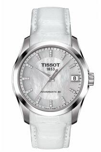 TISSOT天梭T0352071611600COUTURLER系列簡約時尚機械腕錶32mm
