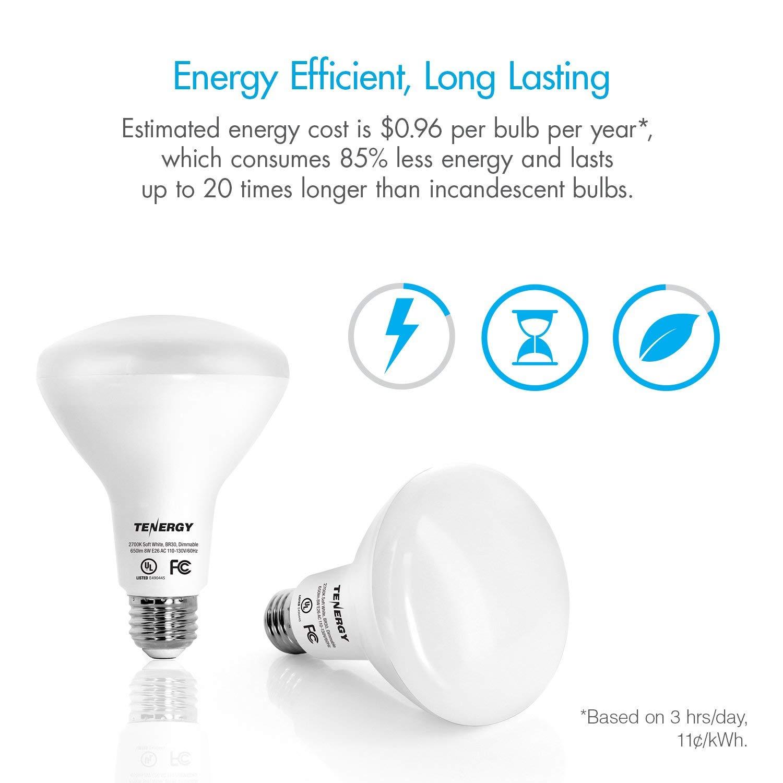 Tenergy Dimmable Led Flood Light Bulbs 60 Watt Equivalent 8w Warm White Soft
