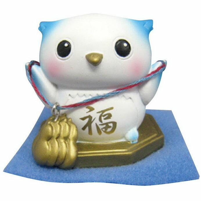 【日本發掘名人】幸運結貓頭鷹之開運應援團(擺飾) 葫蘆健康(藍)