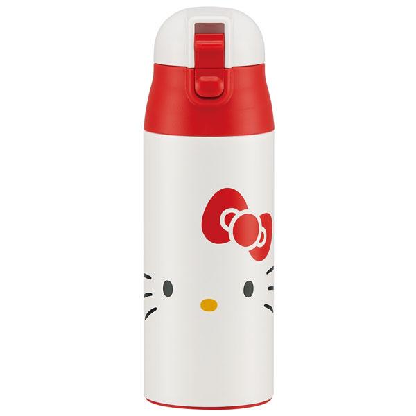 【真愛日本】18012200035 超輕量保溫冷水壺360ml-KT大臉白 三麗鷗 kitty 凱蒂貓 水壺 水瓶