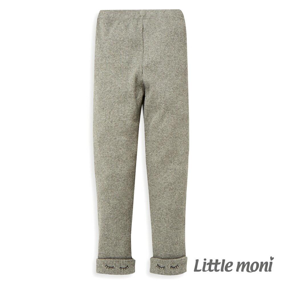Little moni 褲口反褶內搭褲-灰色(好窩生活節) - 限時優惠好康折扣