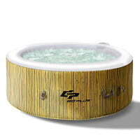 Goplus 4 Person Inflatable Hot Tub Jets Bubble Massage Spa White