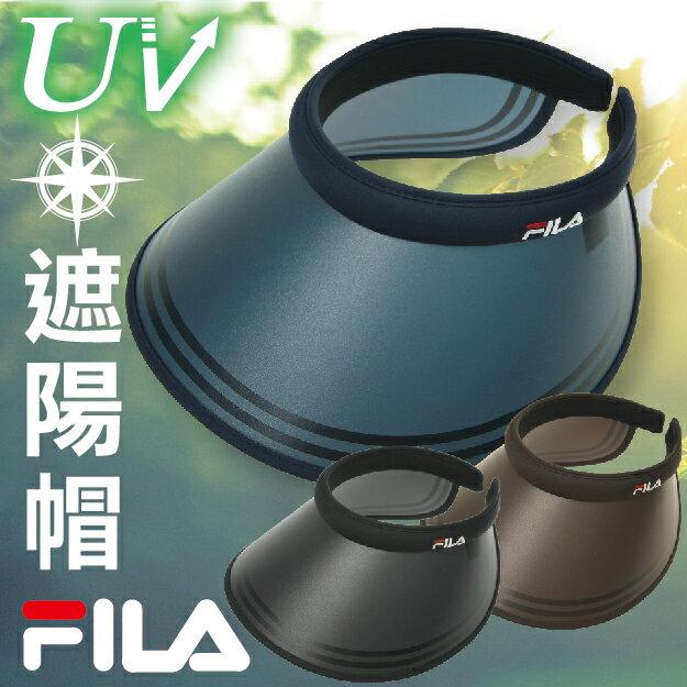 ~沙克思~FILA 帽頂刺繡夾式遮陽帽 特性:UVcut90%以上 12x10cm涵蓋率