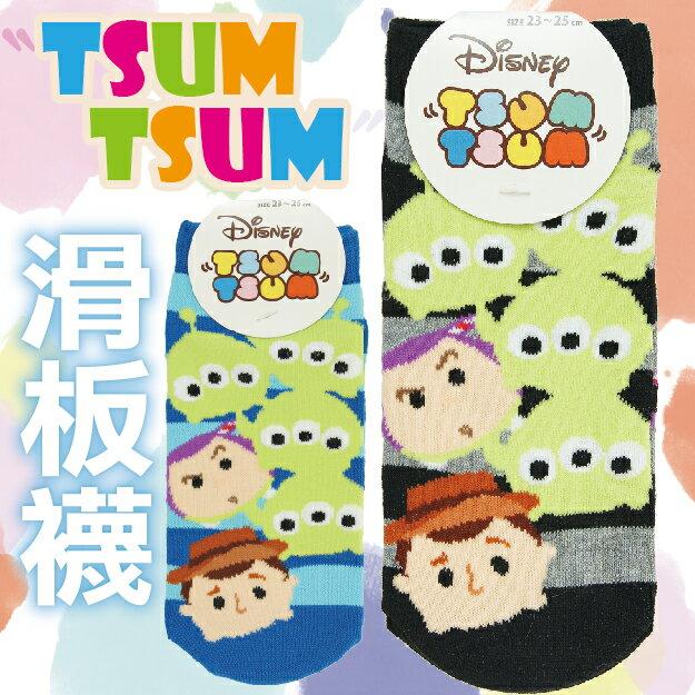 【沙克思】TSUM TSUM 三眼仔胡迪巴斯光年童滑板襪 特性:舒適棉混編織+可愛TSUM造型 (Line Disney PIXAR 迪士尼 皮克斯 合異之星 Squeeze Toy Aliens S..