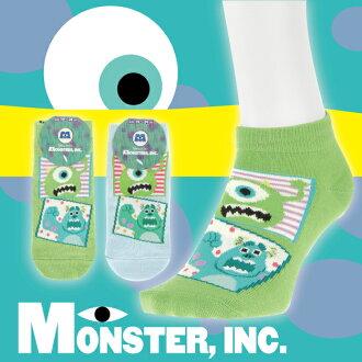 【沙克思】MONSTERS 相框內毛怪與大眼仔童滑板襪 特性:迪士尼人氣卡通+舒適棉混+具腳尖後跟補強 (Disney 怪獸電力公司 襪子 童襪)