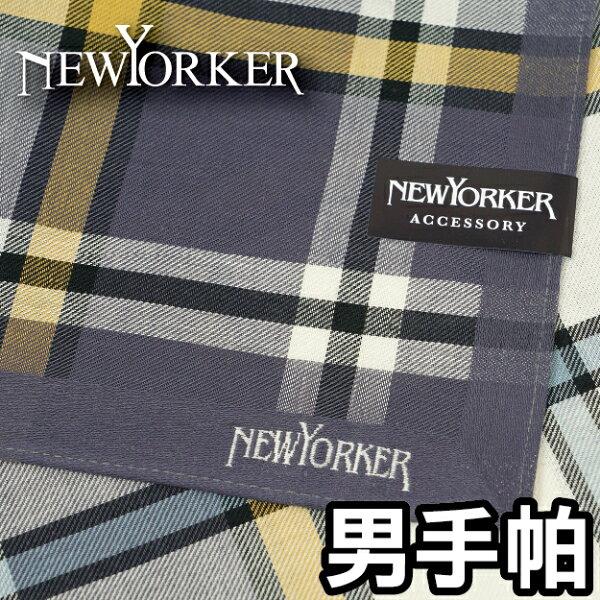 【沙克思】NEWYORKER色槓大方格男手帕特性:100%純棉編織.觸感柔細.吸汗性優異(日本製男手帕)