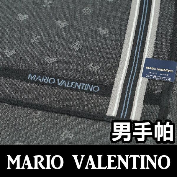 【沙克思】MARIOVALENTINO標誌暗紋右色槓男手帕特性:100%純棉編織+光影暗紋編織設計(瓦倫蒂諾范倫鐵諾)