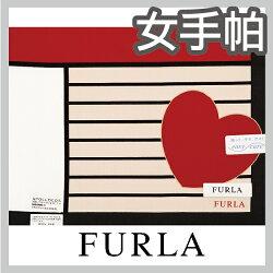 【沙克思】FURLA 色塊方格右下大愛心女手帕 特性:100%純棉編製+防皺形態安定加工 (芙拉 日本製女手帕 )