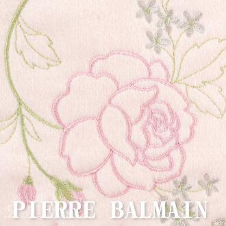 【沙克思】PIERRE BALMAIN 波浪邊右下刺繡玫瑰花束小方巾 特性:100%純棉編製+波型刺繡框邊+多層次刺繡 (毛巾 小毛巾)