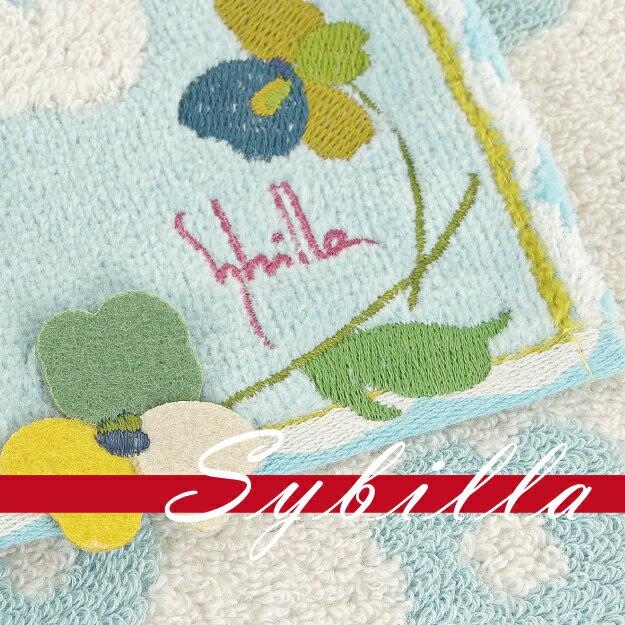 ~沙克思~sybilla 排列綿綿花朵右下花葉貼布刺繡小小方巾 特性:100^%純棉無撚系