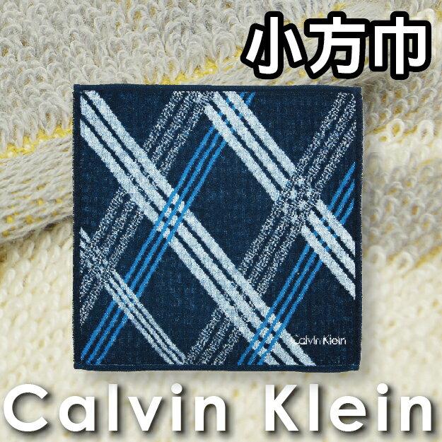 【沙克思】Calvin Klein 三色三線交織大菱格小方巾 特性:100%純棉編製+附LOGO刺繡 (CK 卡爾文 克雷恩 凱文克萊 手帕巾 毛巾 方巾 洗臉巾 日本製 )