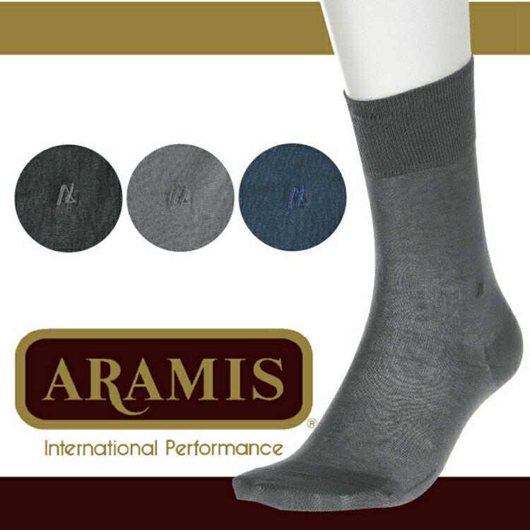 【沙克思】ARAMIS 素色刺繡綿100%紳仕襪 特性:表系棉100%+腳尖對針+腳尖後跟補強+抗菌防臭加工(襪子 男襪)