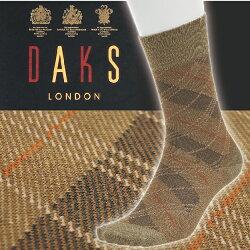 【沙克思】DAKS 斜線大菱格紋木代爾混紡紳士襪  特性:棉木代爾混紡+腳尖後跟補強+彈性編織 (日本製 襪子 男襪 西裝襪 )