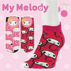 【沙克思】My Melody 滿佈美樂蒂大頭女滑板襪 特性:舒適棉混編織+三麗鷗卡通人物造型 (SANRIO 襪子 女襪 女滑板襪)