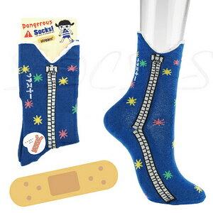 【沙克思】Stream 側拉鍊紋幽默造型女短襪  特性:舒適棉混編織+兩側拉鍊紋造型設計 (襪子 女襪 短襪 棉襪)