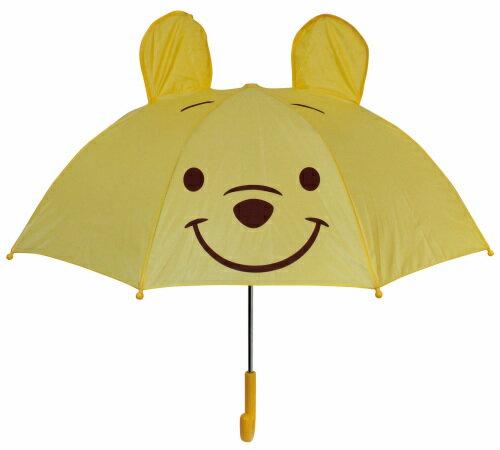 【真愛日本】16080400026立體造型雨傘47cm-PH大臉黃  迪士尼 小熊維尼 POOH 維尼熊 雨晴傘 造型傘