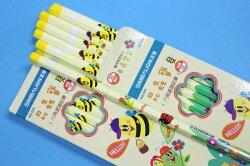 雄獅鉛筆 NO.1101 昆蟲寶貝六角塗頭鉛筆(HB)/一小盒入{定60}
