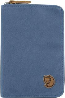 Fjallraven瑞典北極狐PassportWallet旅遊護照包復古拉鍊皮夾錢包24220519山脊藍