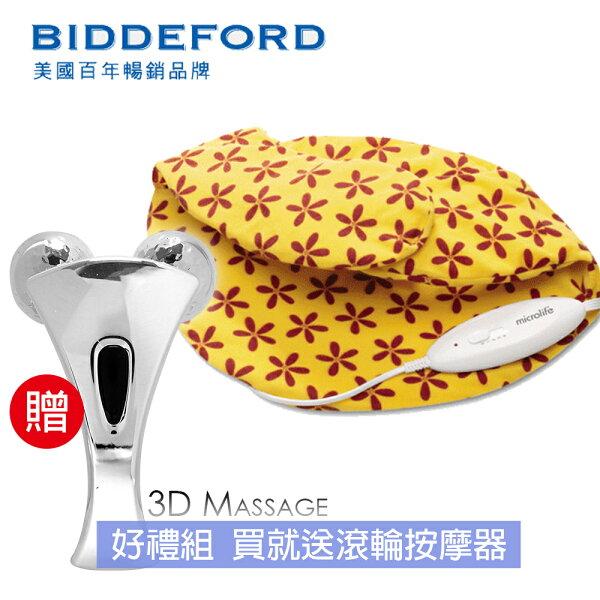 快樂老爹:《好禮組》【美國BIDDEFORD】肩頸型熱敷墊+滾輪按摩器FH320_A33818