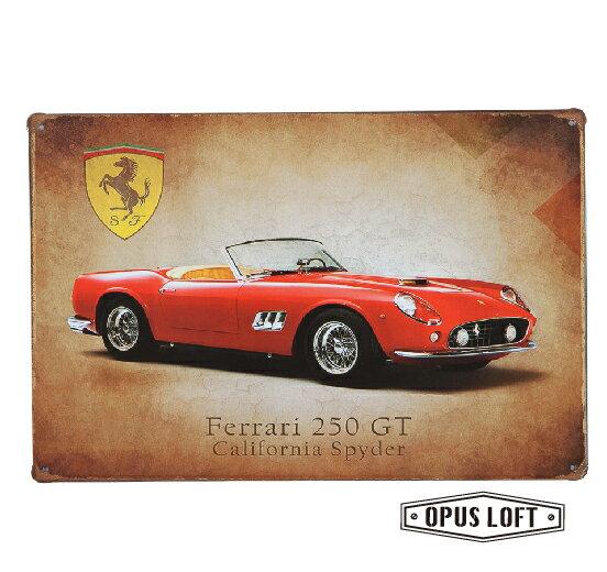Ferrari復古鐵牌TP-1101