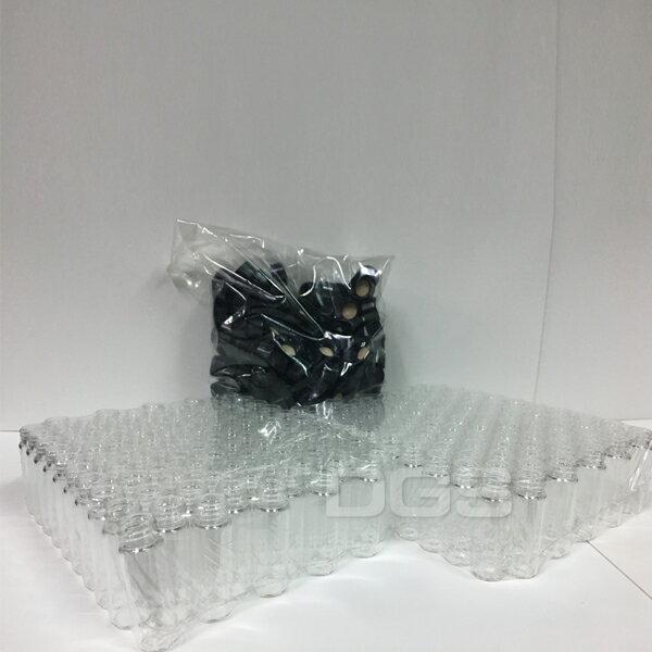 《WHEATON》樣本瓶黑蓋橡膠墊片4ml200個盒