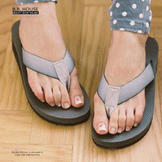 拖鞋-PLAYBOY輕盈夾腳海灘拖鞋.寶貝窩 .【PYS1207】(灰色)